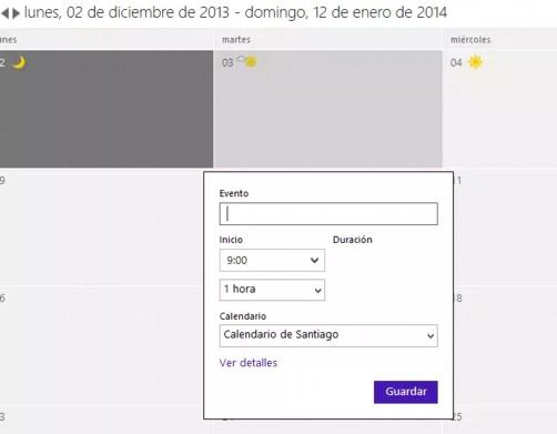 Calendario de Outlook