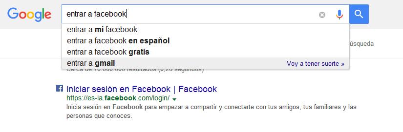 como entrar al facebook