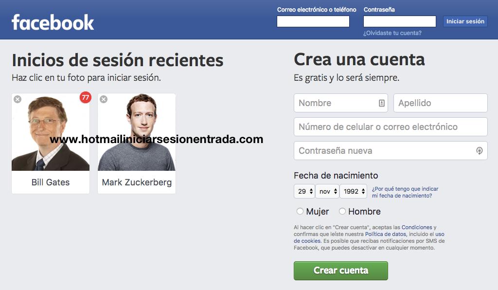 facebook entrar
